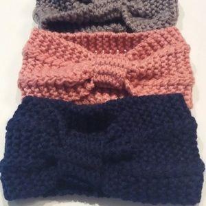 💚 Navy Blue Knitted Headband Ear Warmer